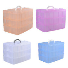 30 Compartments Plastic Case Box Jewelry Bead Storage Container Craft Organizer
