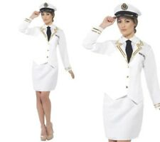 Ladies Military Navy Sailor Naval Officer Fancy Dress Costume S-XXL