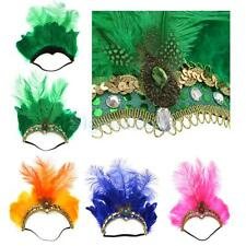 Sequin Feather Flapper Headband Head Dress 1920's Showgirl Headpiece Accessory