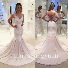 Mermaid Evening Dresses For Women Lace Applique Party Pageant Formal Gowns 2017