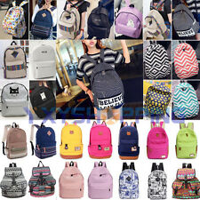 Fashion Womens Girls Canvas Shoulder School Bag Bookbag Backpack Travel Rucksack