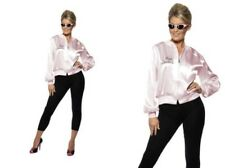 Grease 50s Pink Ladies Jacket Fancy Dress Costume Womens Licensed Outfit