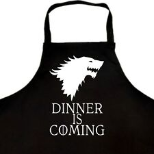 DINNER IS COMING APRON GAME OF THRONES WINTER IS COMING HOUSE STARK GIFT IDEA