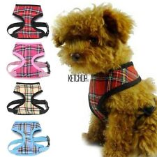 NEW Cat Pet Dog Puppy Soft Mesh Fabric Adjustable Harness Lead Leash with Clip