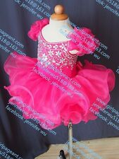 INFANT/TODDLER/BABY/CHILDREN/KIDS CRYSTAL BEADED PAGEANT PARTY DRESS G053-2