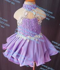 INFANT/TODDLER/BABY/CHILDREN/KIDS LACE BEADED PAGEANT PARTY DRESS G035-1