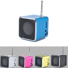 Portable SD TF USB Mini Stereo Bass Speaker Music Player FM Radio PC MP3/4 New