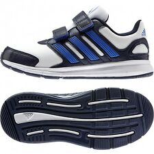 ADIDAS PERFORMANCE OLDER BOYS LK SPORT CF K TRAINERS WHITE/NAVY UK 2.5 EUR 35
