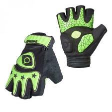 Pair Fingerless Cycling Bicycle MTB Bike Gloves Half Finger Less GEL PADDED PALM