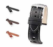 "BOB Genuine Calf Leather Watch Band, Model ""Racing"", 18-22 mm, 3 colors, new!"