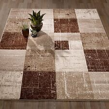 City Collection Brown/Beige Polypropylene Geometric Area Rug (5'3 X 7'3)