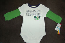 NWT Infant Boy Paul Frank Advanced Beginner Bodysuit Size 0/3M 3/6M 6/9M LQQK FS