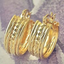 Earrings 9ct Gold Filled Vintage Style Gypsy Hoops Great Gift Idea