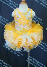 INFANT/TODDLER/BABY/CHILDREN/KIDS CRYSTAL BEADED PAGEANT PARTY DRESS G070-5