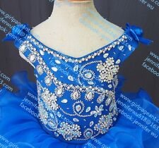INFANT/TODDLER/BABY/CHILDREN/KIDS CRYSTAL BEADED PAGEANT PARTY DRESS G091-3