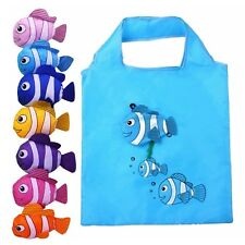ECO Reusable Fish Folding Shopping Bag Grocery Bags Shopper Tote Travel Bag MAD