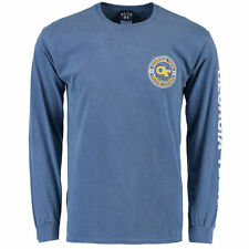Georgia Tech Yellow Jackets Blue 84 Overdyed Long Sleeve T-Shirt - Navy - NCAA