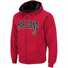 Maryland Terrapins Stadium Athletic Arch & Logo Full Zip Hoodie - Red - NCAA