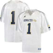 Georgia Tech Yellow Jackets Russell Replica Football Jersey - White - NCAA