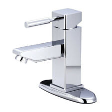 Kingston Brass Concord Single Handle Bathroom Faucet with Push-Up and Deck Plate