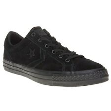 New Mens Converse Black Star Player Ox Suede Trainers Mono Lace Up