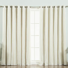 Mix & Match Dotted Tulle Lace Blackout Single Curtain Panel