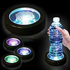 LED Coaster Color Changing Light Up Bottle Drink Cup Mat Glow Bar Party New! B
