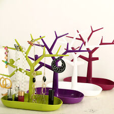 Tree Jewelry Earring Necklace Holder Jewellery Organizer Show Stand Display Rack