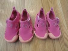 OCEAN PACIFIC GIRLS PINK WATER SHOES 5-6 OR 7-8 EUC SPRING SUMMER