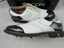Footjoy Myjoys Icon Shield Tip Golf Shoes White Black Patent Leather 11.5 Narrow