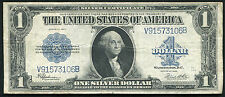 "1923 $1 ONE DOLLAR ""HORSEBLANKET"" SILVER CERTIFICATE CURRENCY NOTE VERY FINE+"