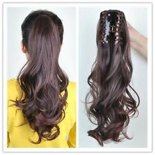 Long Straight Curly Natural Thick Claw Hair Ponytail Clip in Hair Extensions DHJ