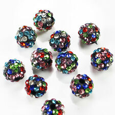 8mm Multi-color Disco Ball Clay CZ/Crystal beads for Shamballa Accessories charm