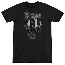 Sons Of Anarchy Ties That Bind Mens Adult Heather Ringer Shirt Black