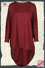 Oversized Wine Dipped Hem Long Sleeved Knitted Top Size 16/18, 20/22 & 24/26