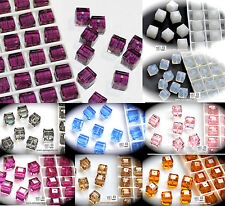 Authentic #5601 Swarovski Crystal 8mm Cube Square Beads  2pcs pick color SALE