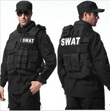 Tactical Vest Black Rothco Ranger Military Pocket Travel Hood Concealed Chest