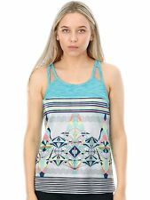 Roxy Marshmallow Psyche Palm Repeat Thana Womens Sports Tank Top