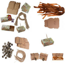 50Pcs New Shabby Kraft Paper Muffin Gift Wrap Boxed Cases Wedding Party Favors