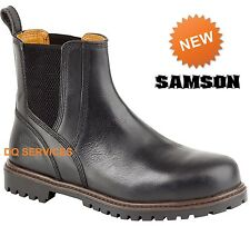 Mens Safety Work Boots Black Redskin Chelsea Dealer Steel Toe Cap Samson 7047