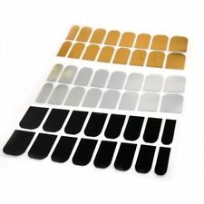 16 Pcs Wraps Stickers Decoration Decal Foils Silver Nail Art Patch Smooth