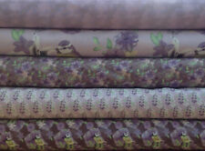 Fabric Freedom Water Colour Floral 100% Cotton Fabric FQ  Quilting Craft Purple