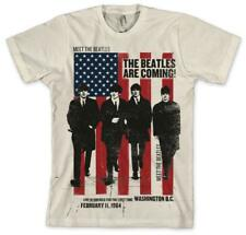 The Beatles - The Beatles Are Coming! T-Shirt Cream Shirt Tee New