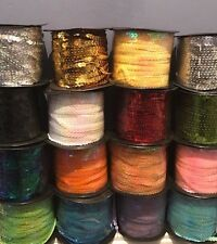 Strung Metallic Flat Sequins String 6mm / Choice of Colours / 100 yards reel