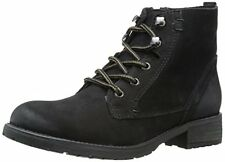 Steve Madden Womens GOBBIN Leather Round Toe Ankle Fashion Boots