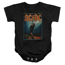 ACDC Let There Be Rock Unisex Baby Snapsuit BLACK