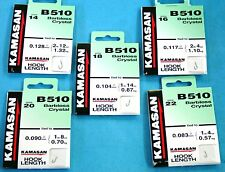 Kamasan B510 Barbless Crystal Hooks To Nylon - 5 Sizes To Choose From