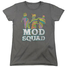 Mod Squad Mod Squad Run Groovy Womens Short Sleeve Shirt Charcoal