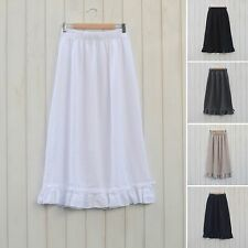 Lagenlook Linen Skirt Vintage Style Maxi Quirky Plus Size 14 16 18 20 22 6503