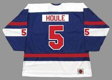 REJEAN HOULE Quebec Nordiques 1974 WHA Throwback Hockey Jersey